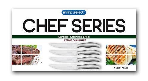 Chef Series 4 Pc Steak Knife Set