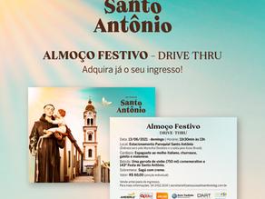 Ingressos para o almoço do Dia Festivo de Santo Antônio no formato drive thru estão à disposição