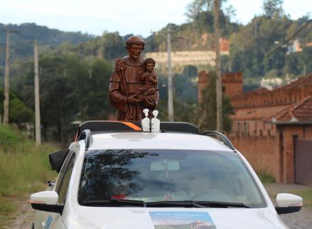 Em Bento, comunidade se prepara para acolher imagem de Santo Antônio com procissões motorizadas