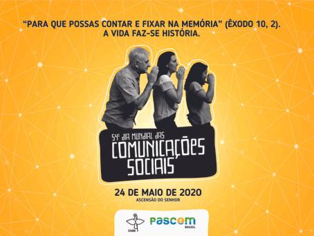 Mensagem do Papa Francisco para o 54º Dia Mundial das Comunicações Sociais - 24 de maio de 2020