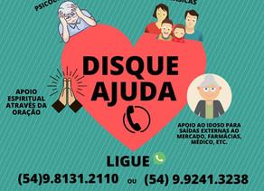 """Idealizado pelos movimentos de evangelização da Diocese, """"Disque Ajuda"""" inicia atuação em Bento"""