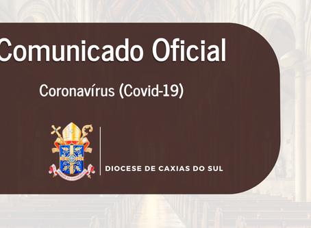 Bispo de Caxias do Sul emite comunicado e suspende atividades diocesanas pelo Covid-19