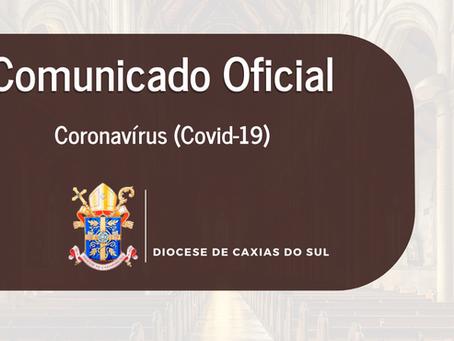 Comunicado da Diocese de Caxias do Sul sobre classificação da Serra como bandeira vermelha | Covid19