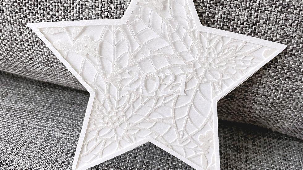 クリスマス切り絵図案❷  星(図案のみ)
