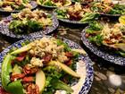 Pear, Blue Cheese, Bacon, Pistachio Salad