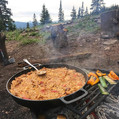 Getting that paella on high in the mount