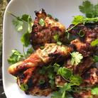 Spring chicken.  Green onion, cilantro,