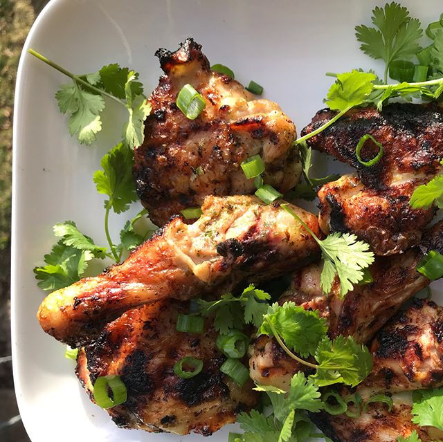 Spring chicken.  Green onion, cilantro,