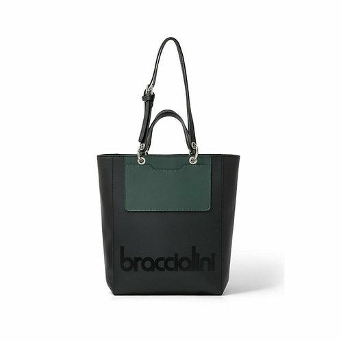 Borsa Braccialini tote my one B14690 nero/verde