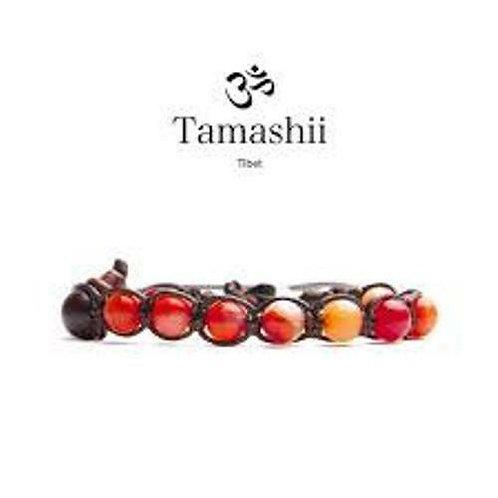 TAMASHII Bracciale Tibetano in Agata Rossa Striata BHS900-118