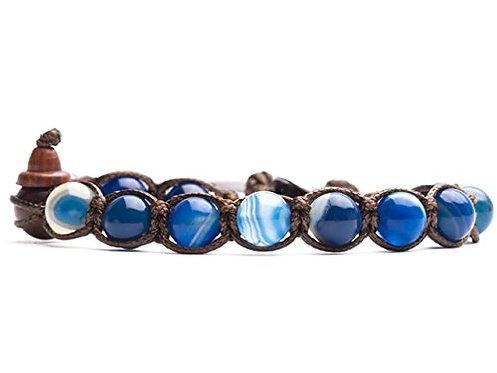 Tamashii bracciale BHS900-141 Agata Blu