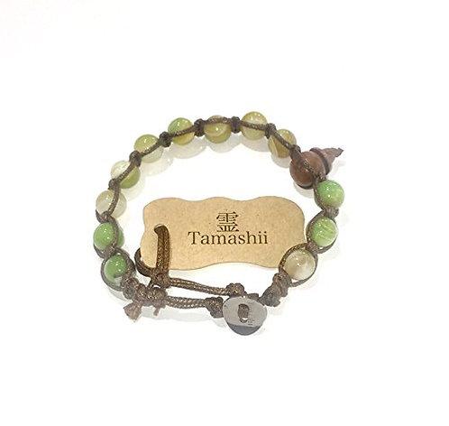 Tamashii bracciale BHS900-87 Agata Verde