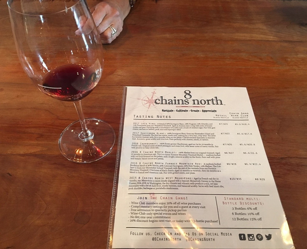 Loudoun County Wineries - 8 Chains North