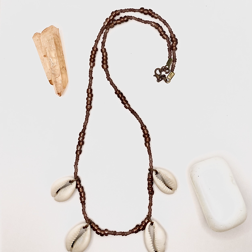 Brown Cowrie Shell Necklace