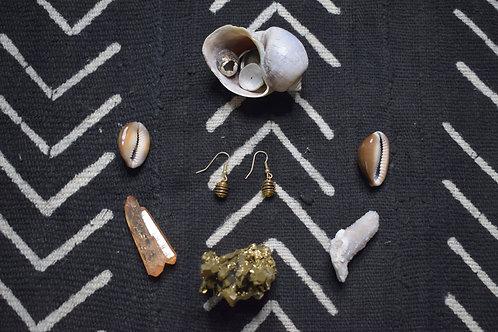 Garnet Crystal Cage Earrings