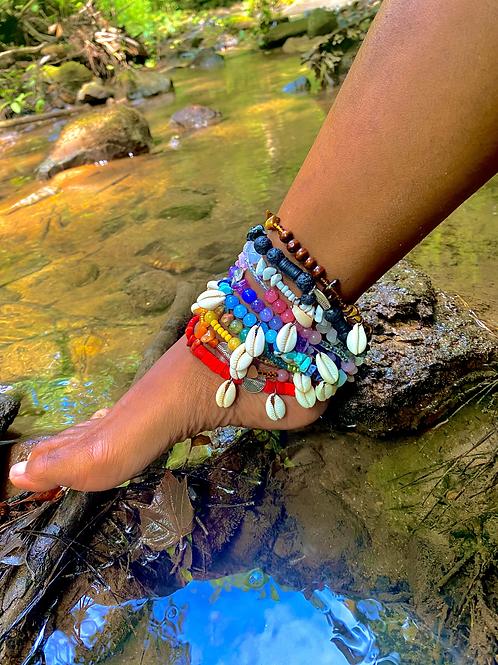 Oxumaré: Serpentine Love Anklets