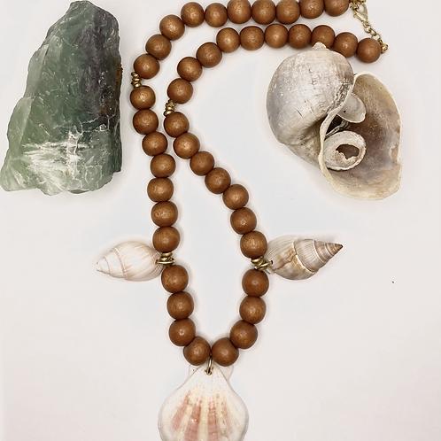 Oshun River Goddess inspired Shell Necklace