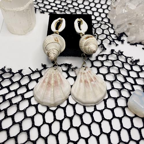 Ocean Majick Seashell Earrings