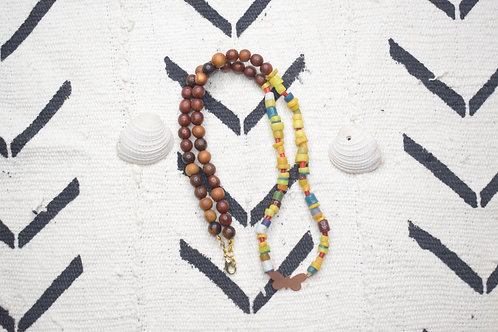Butterfly African Bead Necklace