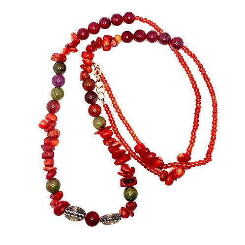 Oya Red Lightening Waist beads