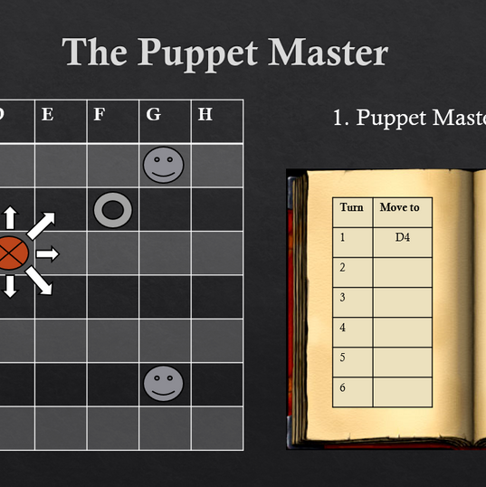 The puppet master: board game, solo project