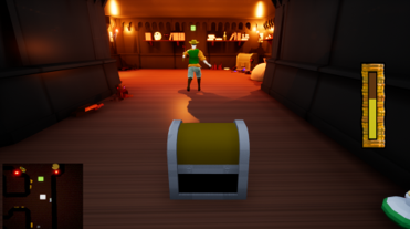 Gimmick mimmick in game shot The treasure is following the adventure to protect his treasure.