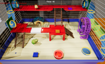 Zombiehammies. Play tag as with a zombie hamster. Co-op as zombie