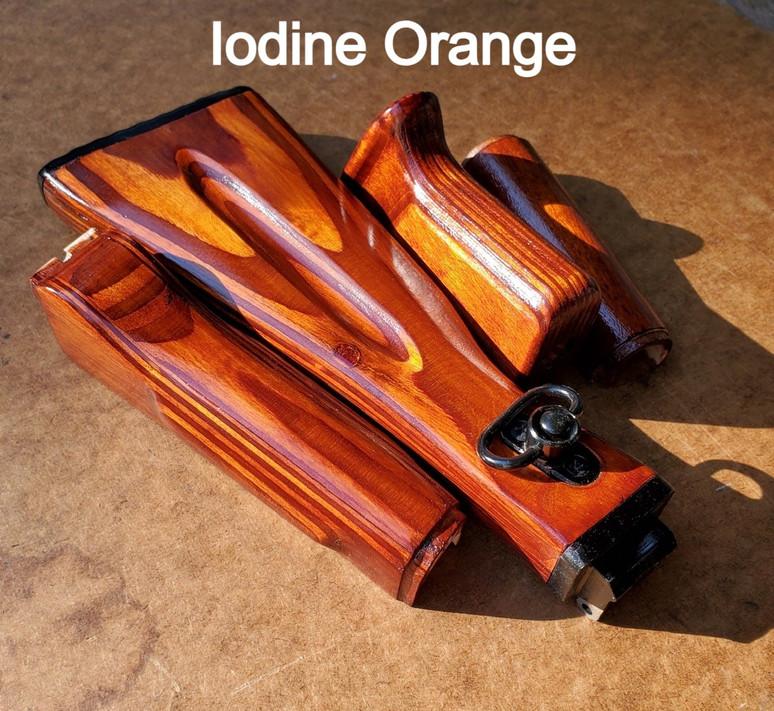 Iodine Orange Wood Folding Stock