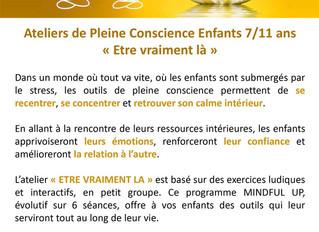 Ateliers de Pleine Conscience Enfants 7/11 ans