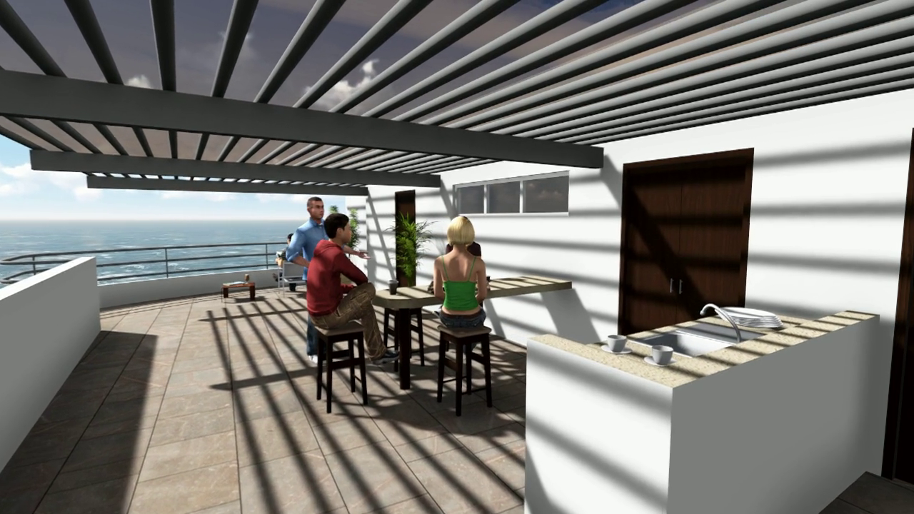 Private Rooftop Terrace - Kitchen