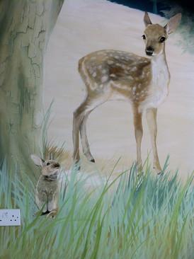 Baby Rabbit and Deer