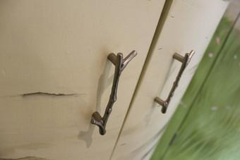 Pewter, twig handles