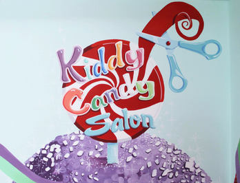 Children's Hair Salon Mural & Logo