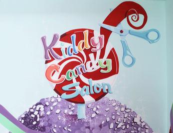 Children's Hair Salon Mural & Logo