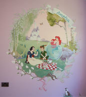 Disney Picnic Playroom Mural