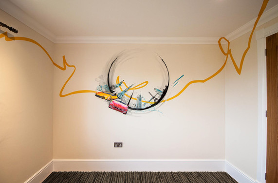 Boy's Bedroom Mural