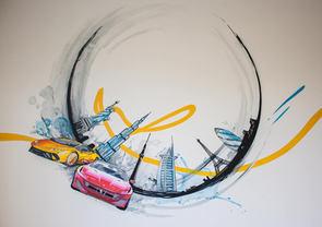 Streetart Style Mural