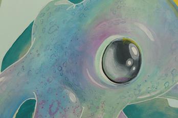 Cute Underwater Playroom Mural