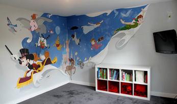 Vintage Disney Playroom Mural