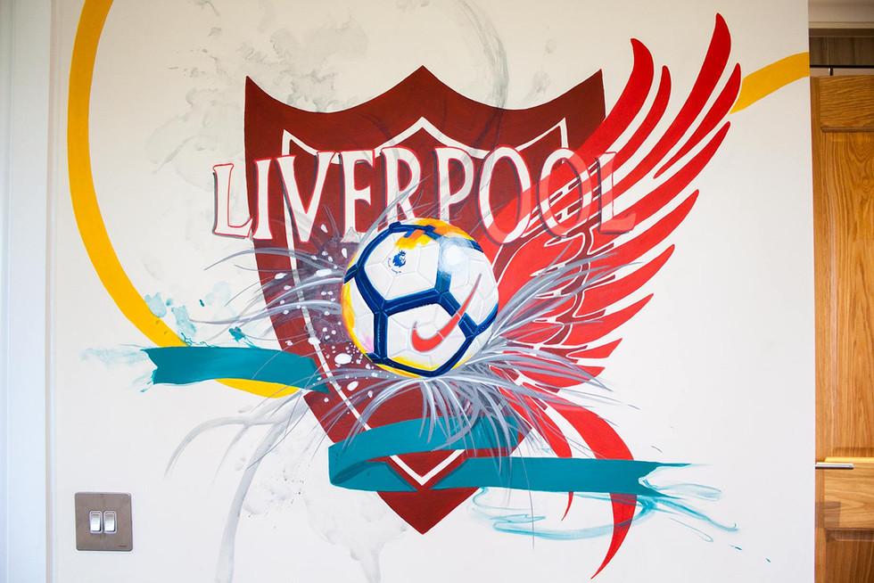 Liverpool FC Mural Bedroom