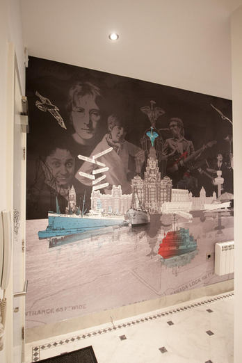 Bespoke Printed Liverpool Mural Wallpaper