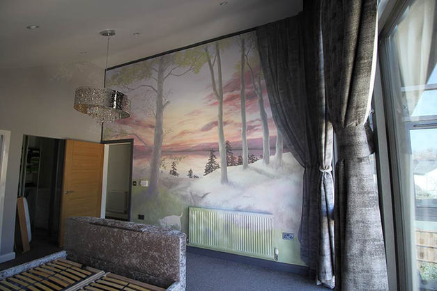 Bedroom Lake Mural