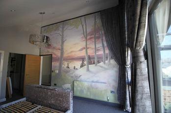 Bedroom Lake Mural