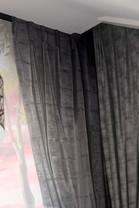 tromp l'oeil curtain to match client's own