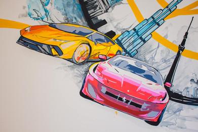 Supercar Mural