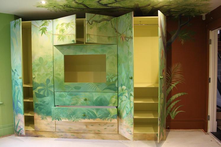 Painted Wardrobe Jungle Mural