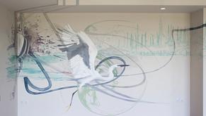 Watercolour Living Room Mural