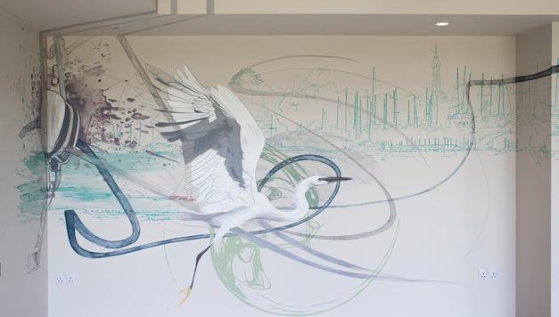 Watercolour Style Mural Art