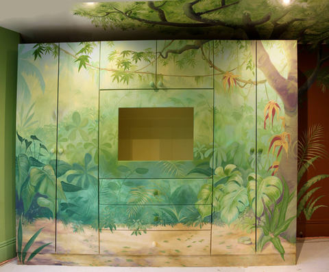 Painted Wardrobe Jungle Mural
