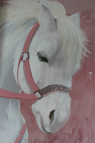 Pet pony portrait with Swarovski crystals